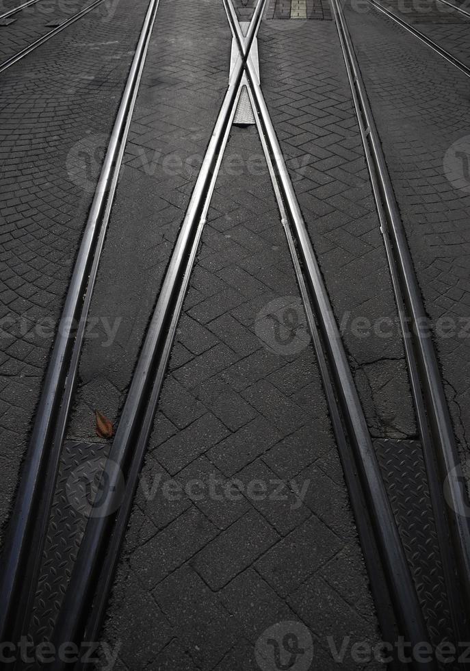 voie ferrée, croisement, routes photo