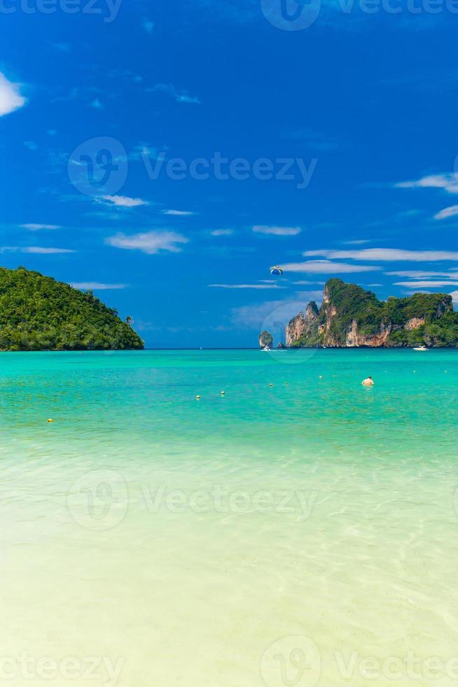 paysage marin bleu photo