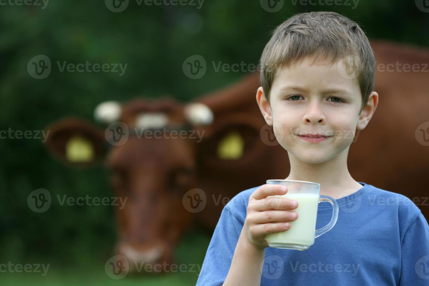 boire du lait photo