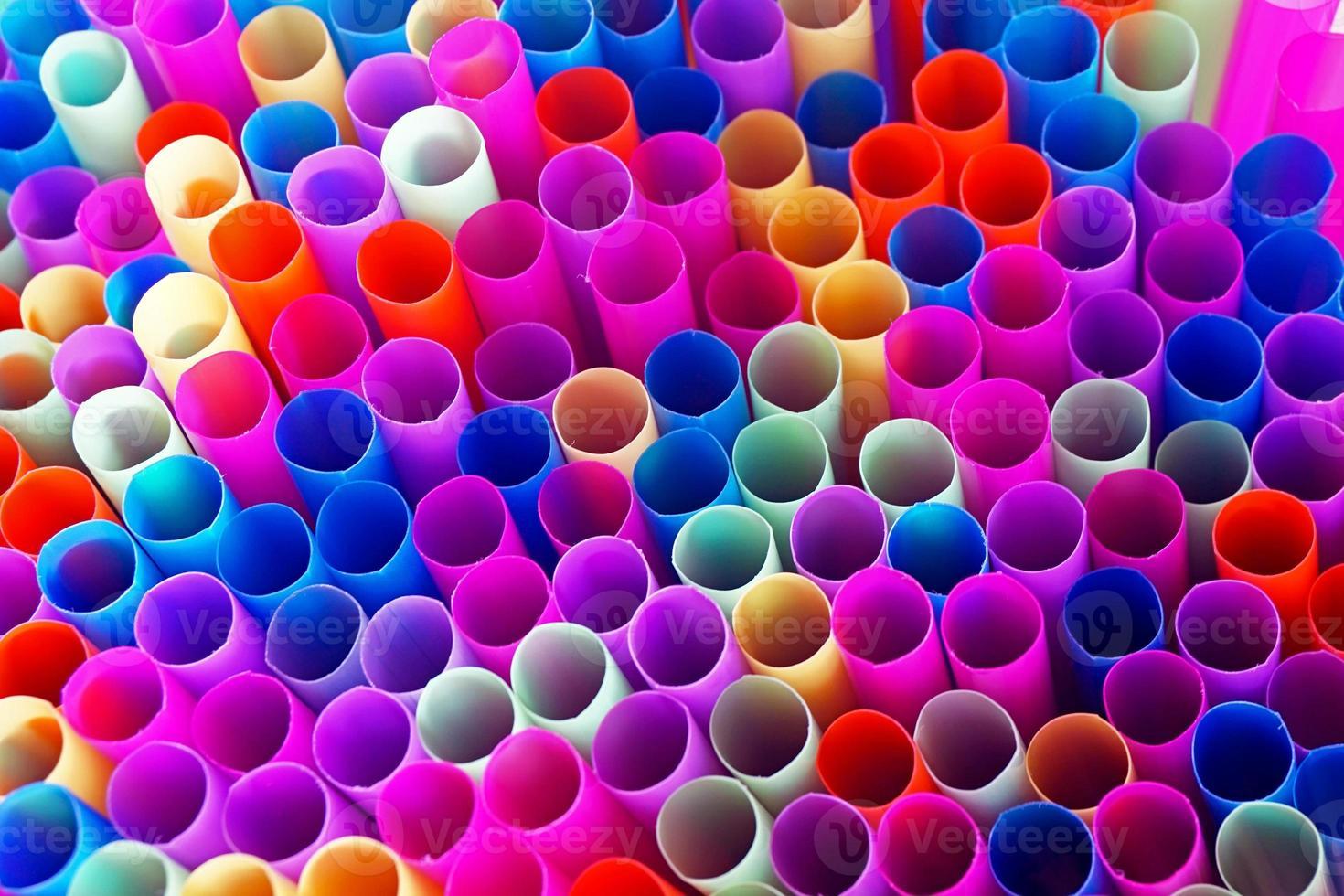 pailles colorées photo