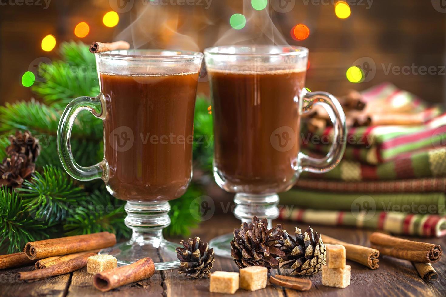 boisson de cacao de Noël photo