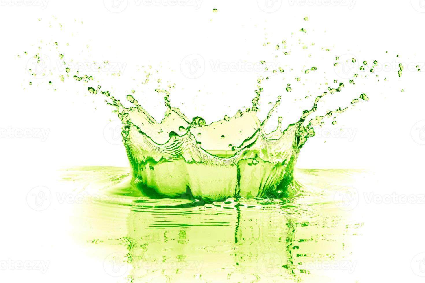 éclaboussure de citron vert photo