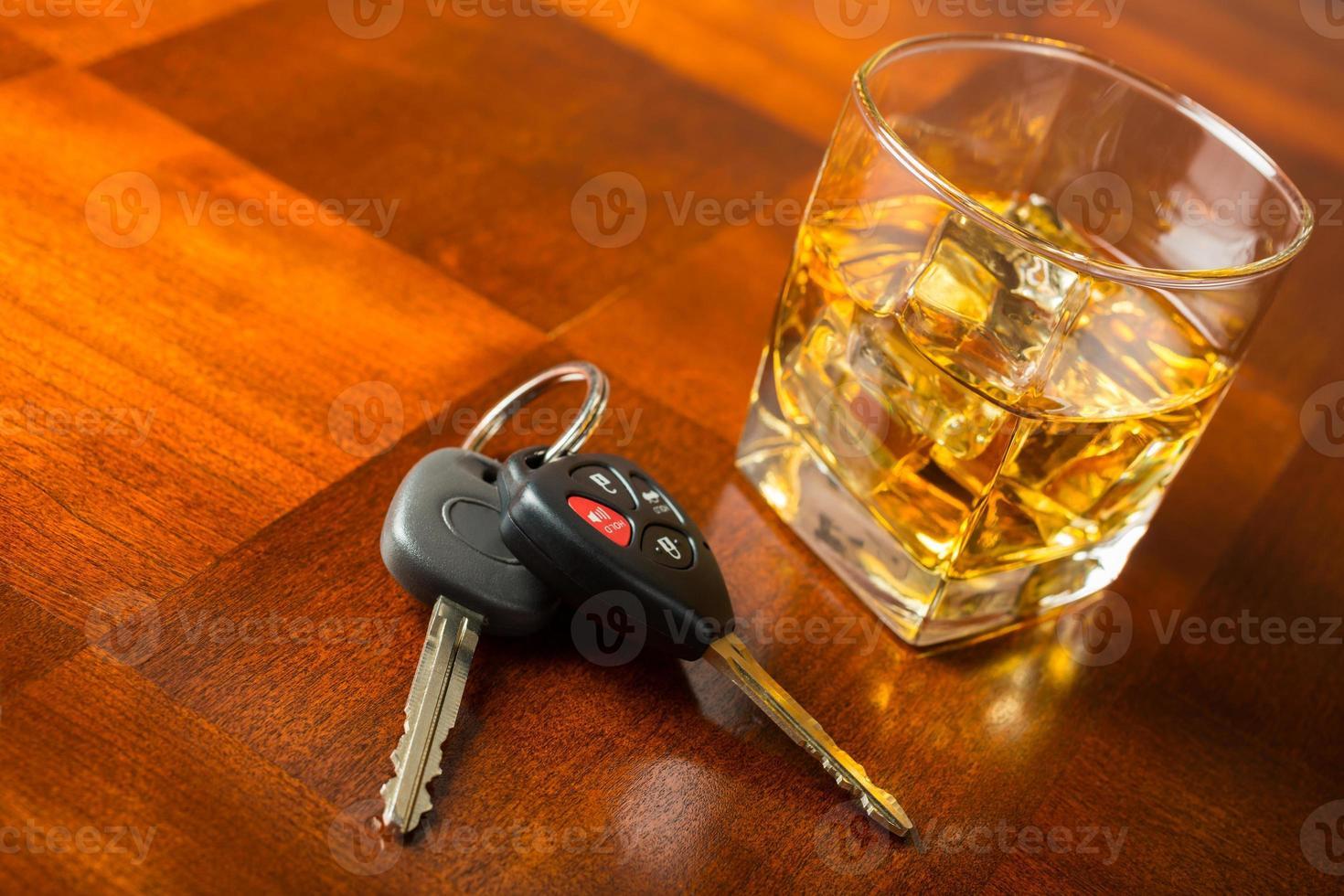 concept de l'alcool au volant photo