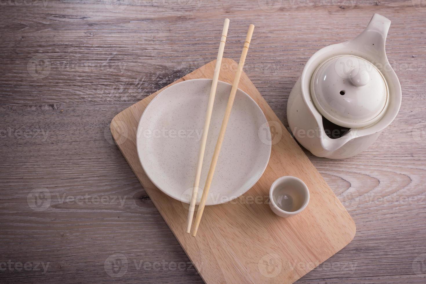 service à thé vide photo