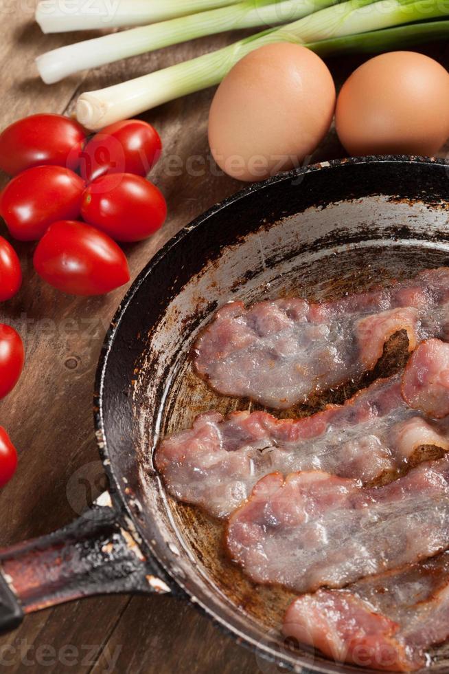 frit le bacon. photo