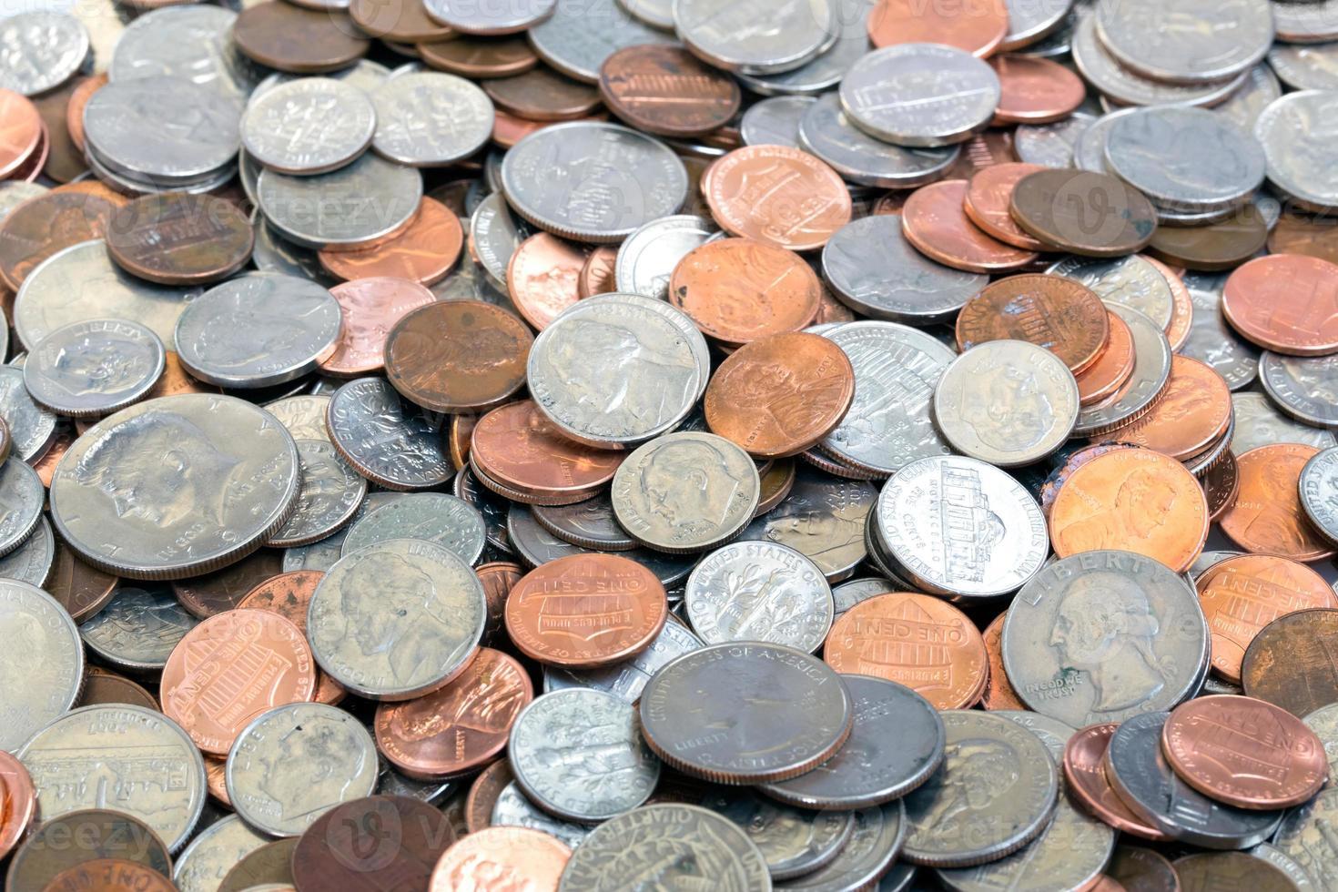 fond de pièces de monnaie américaine photo