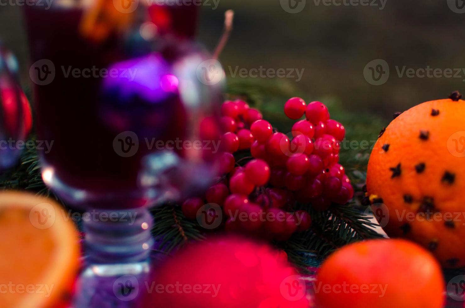 Boisson de Noël au vin chaud photo