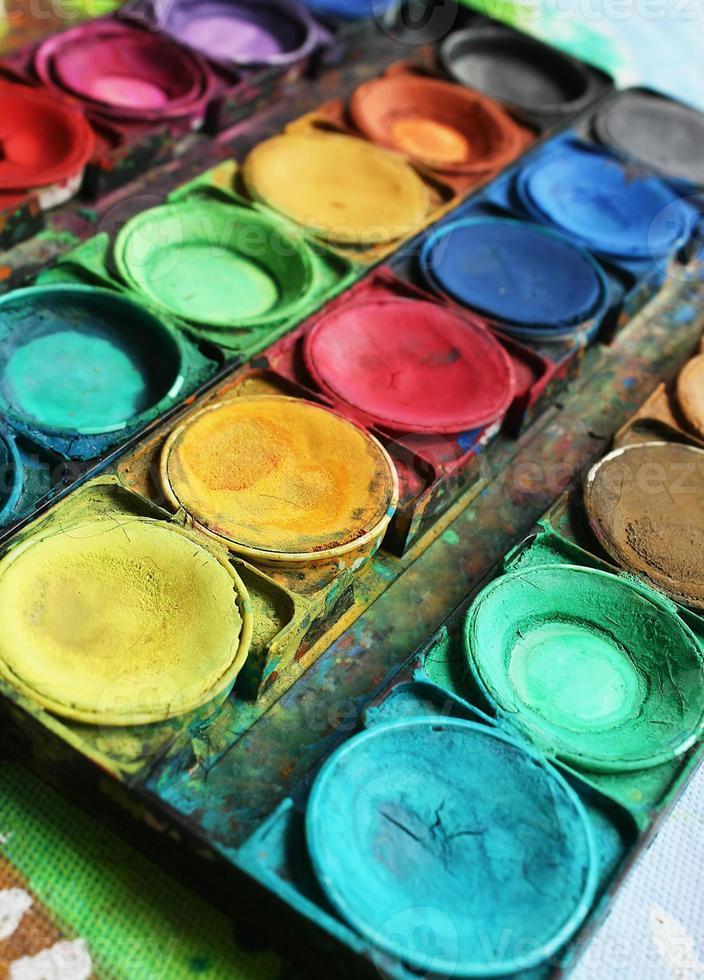 peintures de couleur photo