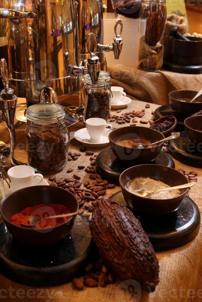 configuration de boisson au chocolat chaud photo