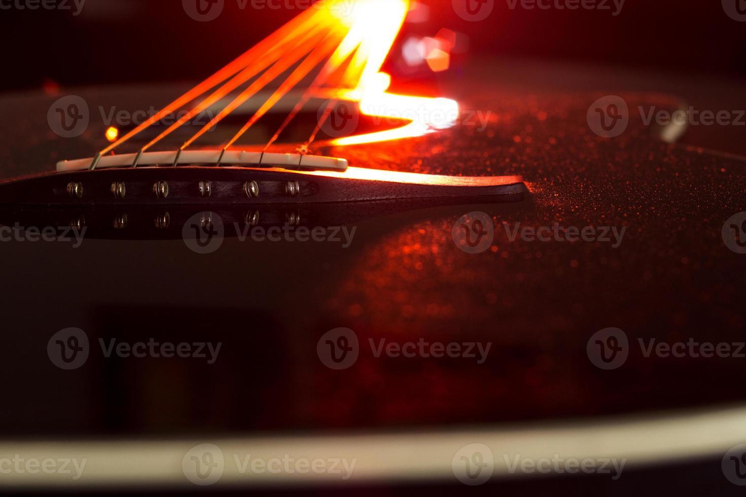 guitare rouge photo