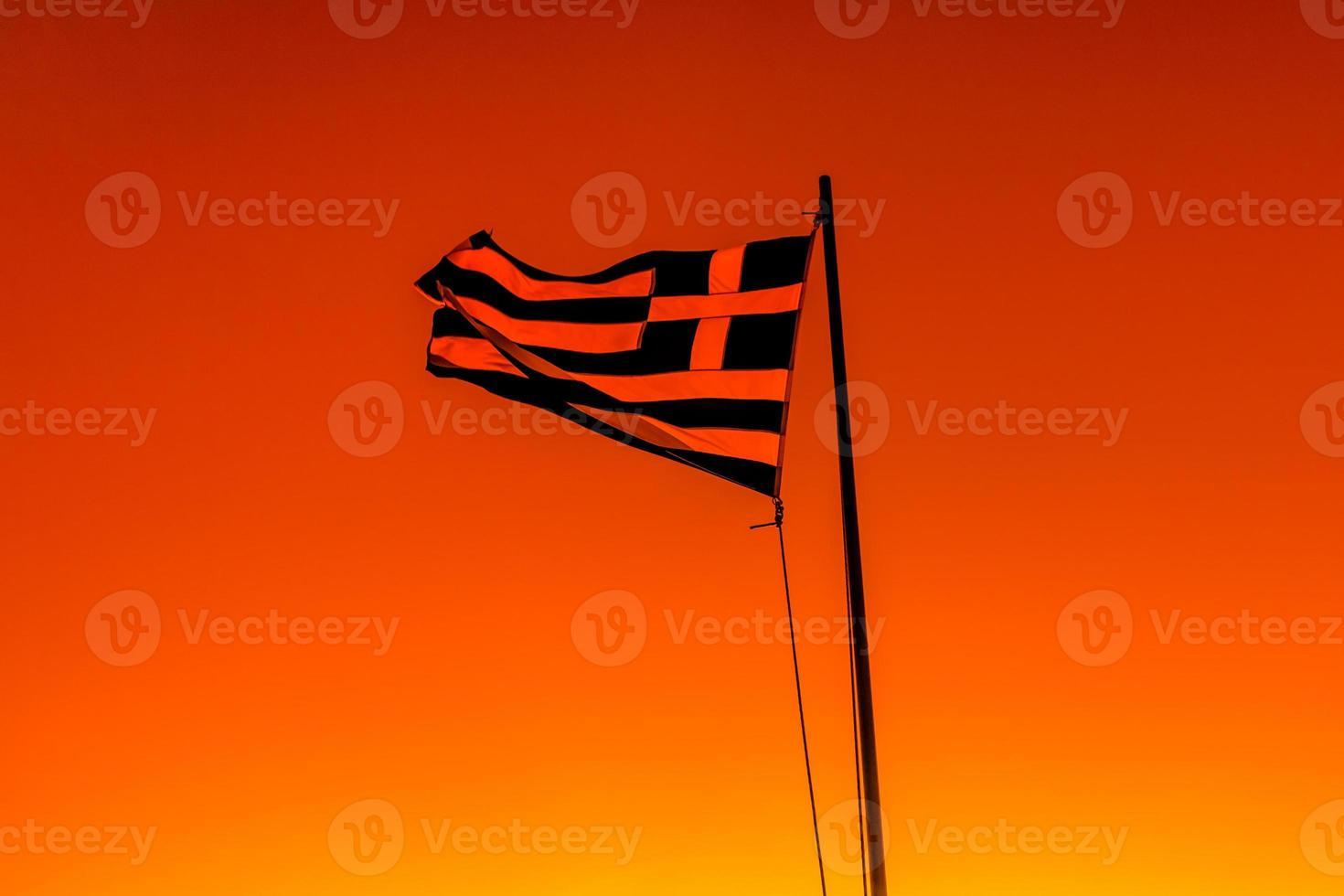 drapeau de la grèce photo