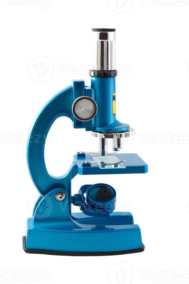 microscope sur fond blanc photo