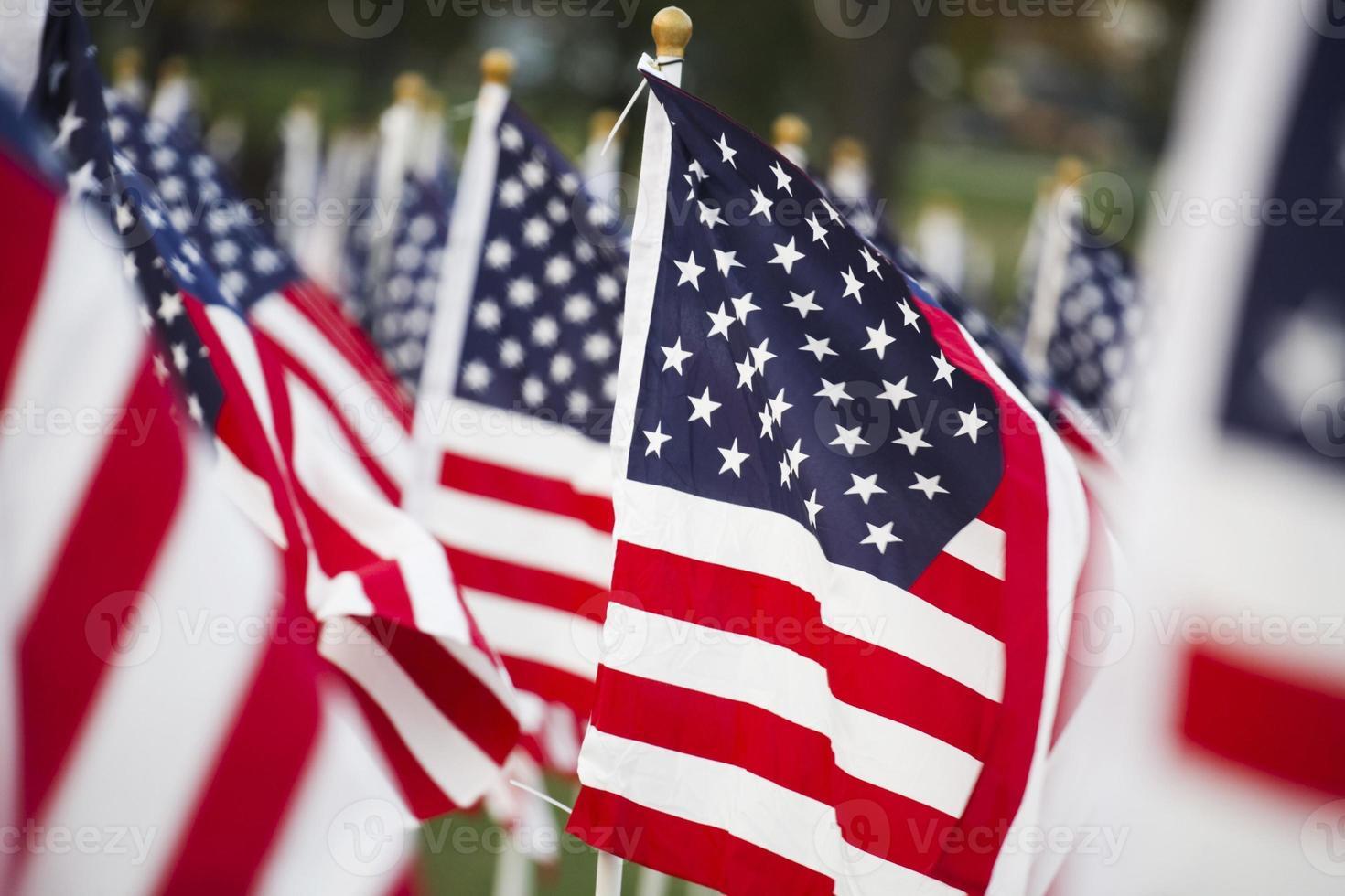 drapeaux américains photo