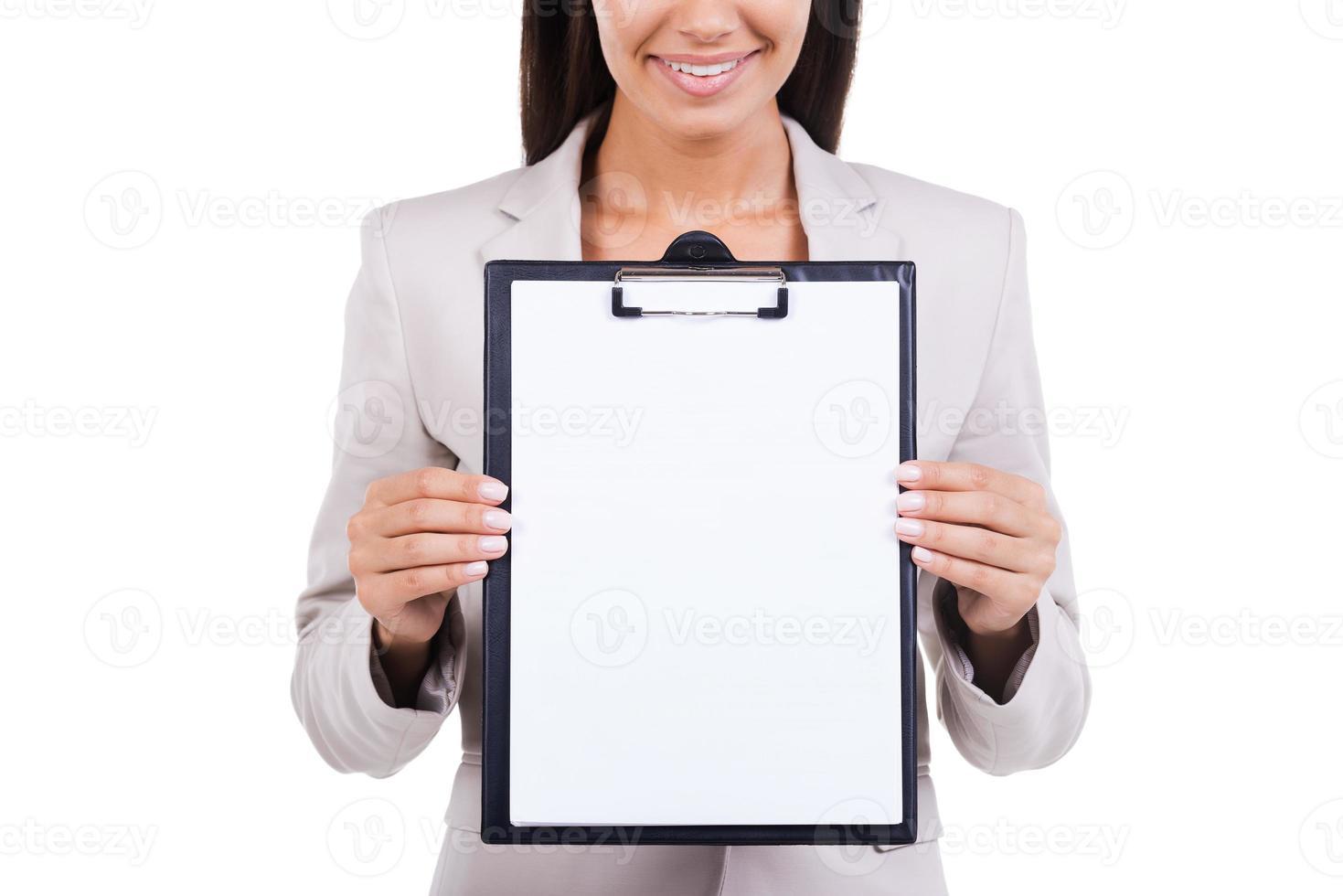copier l'espace sur son presse-papiers. photo