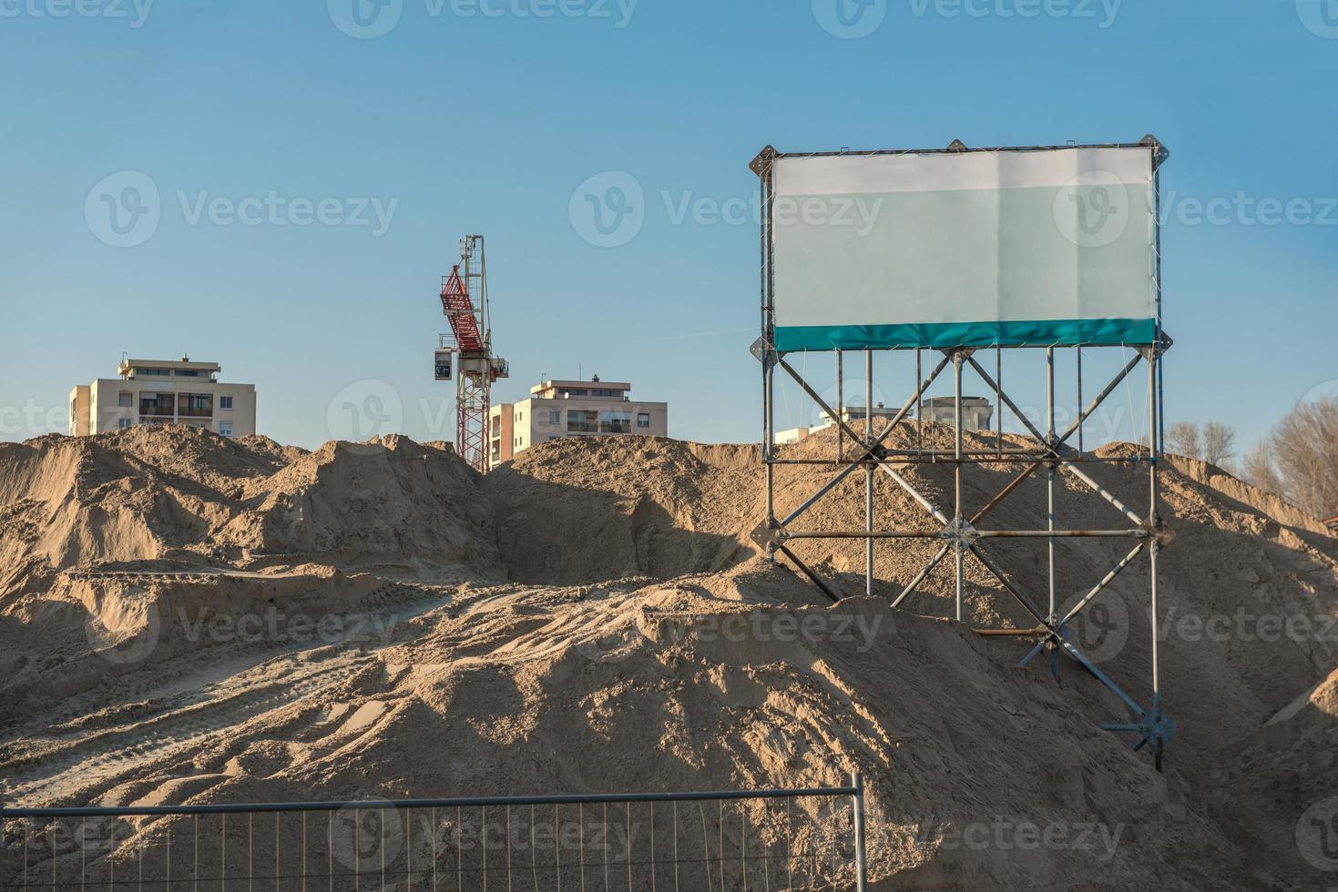 chantier de construction avec copie espace signe photo