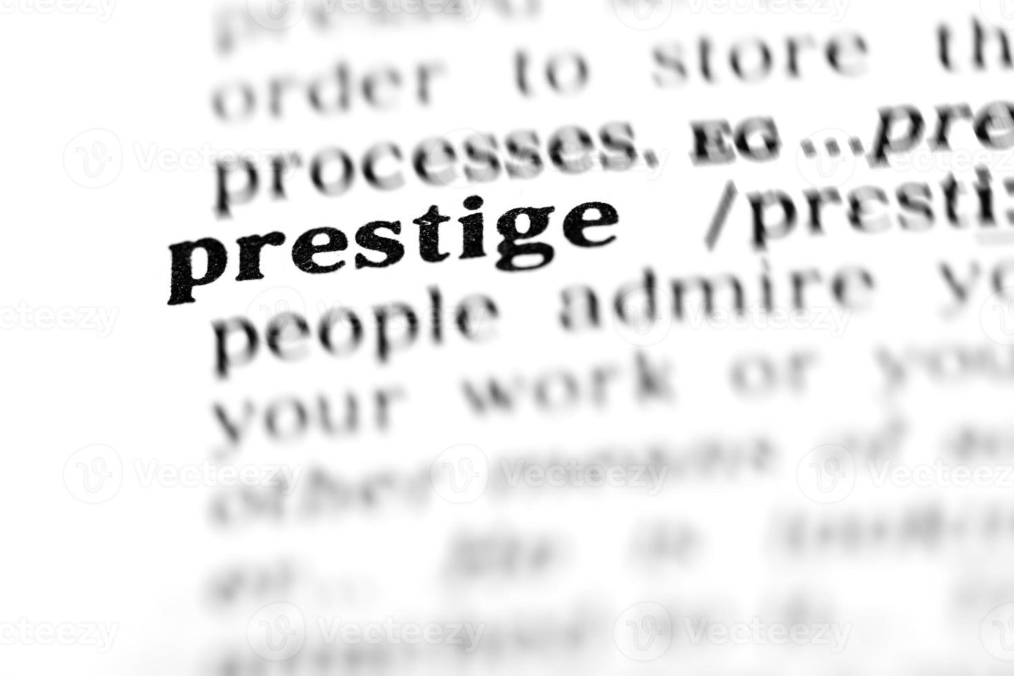 prestige (le projet de dictionnaire) photo