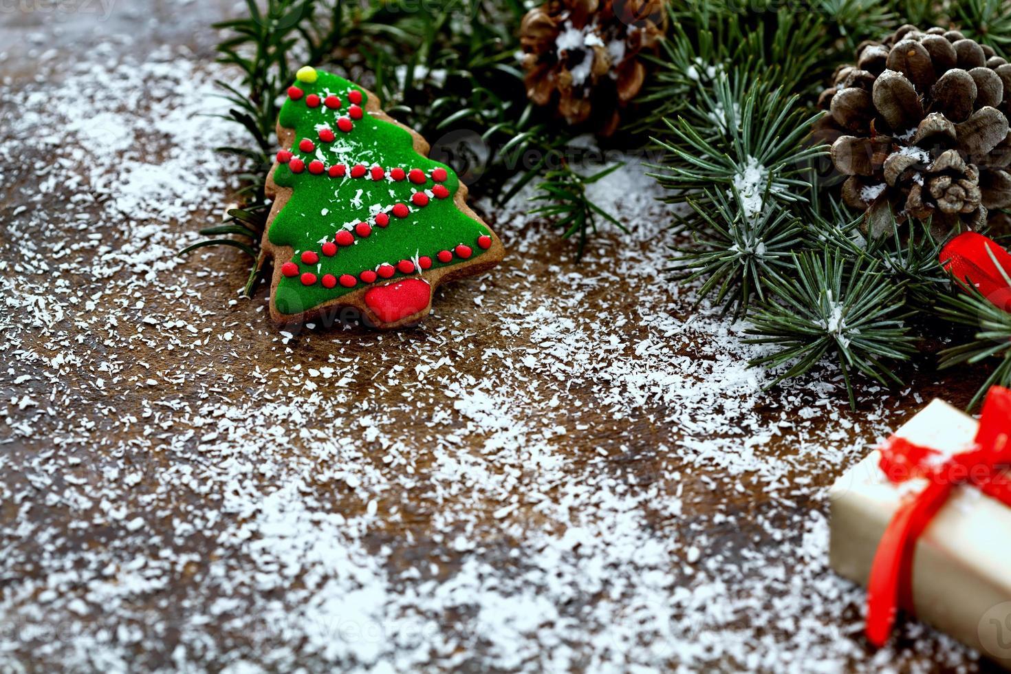décoration de Noël avec espace copie photo