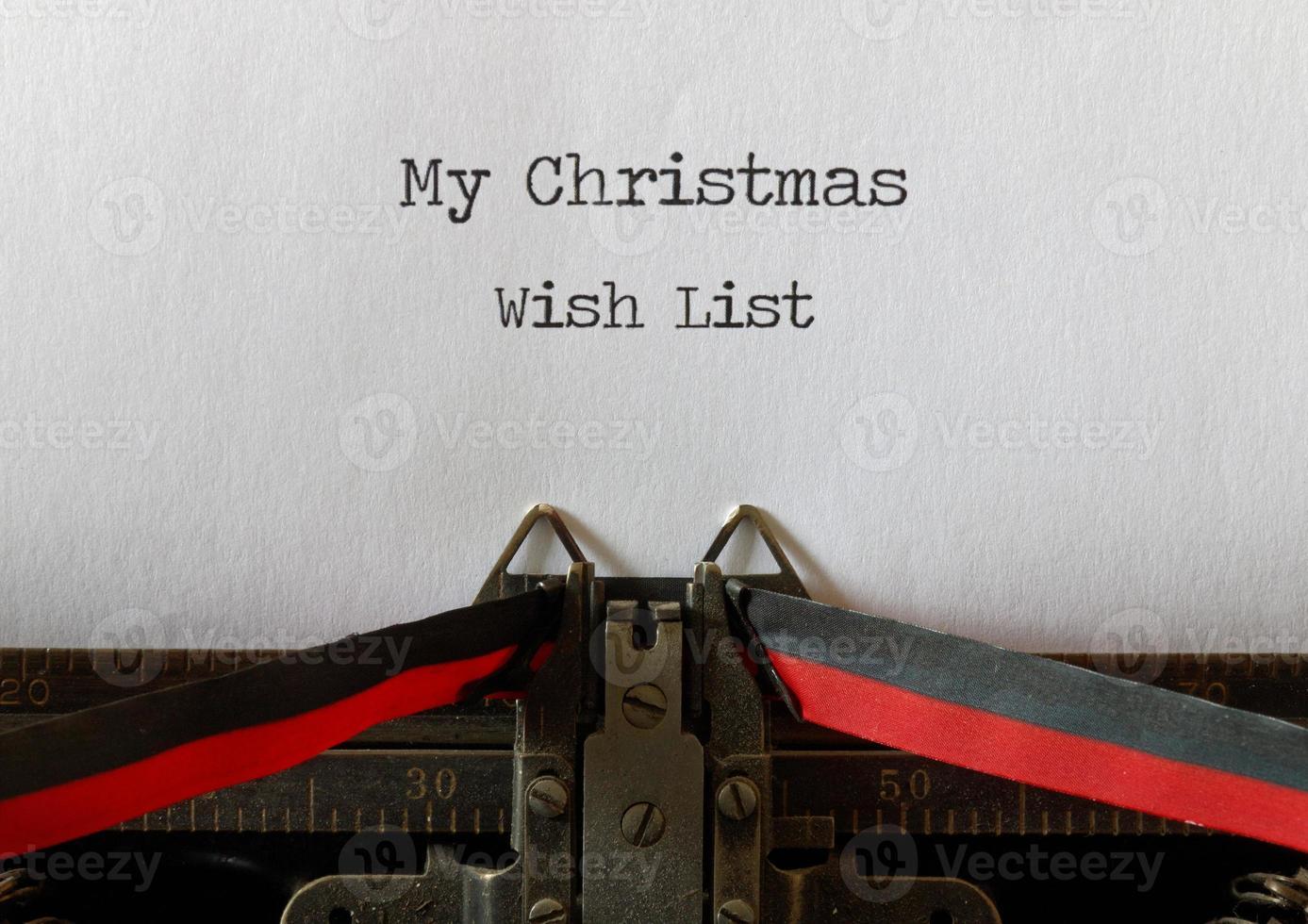ma liste de souhaits de Noël, à l'ancienne photo