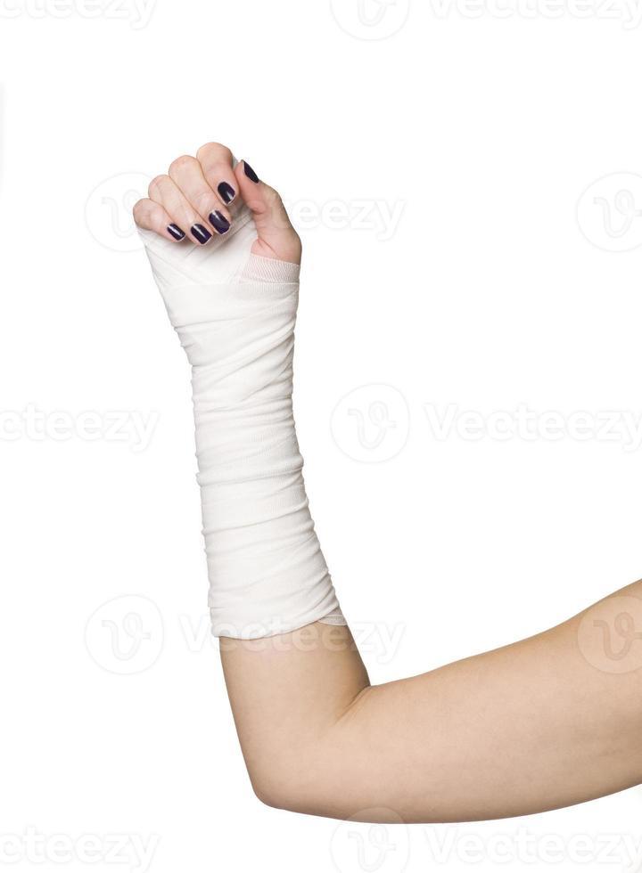 bandages sur un bras photo