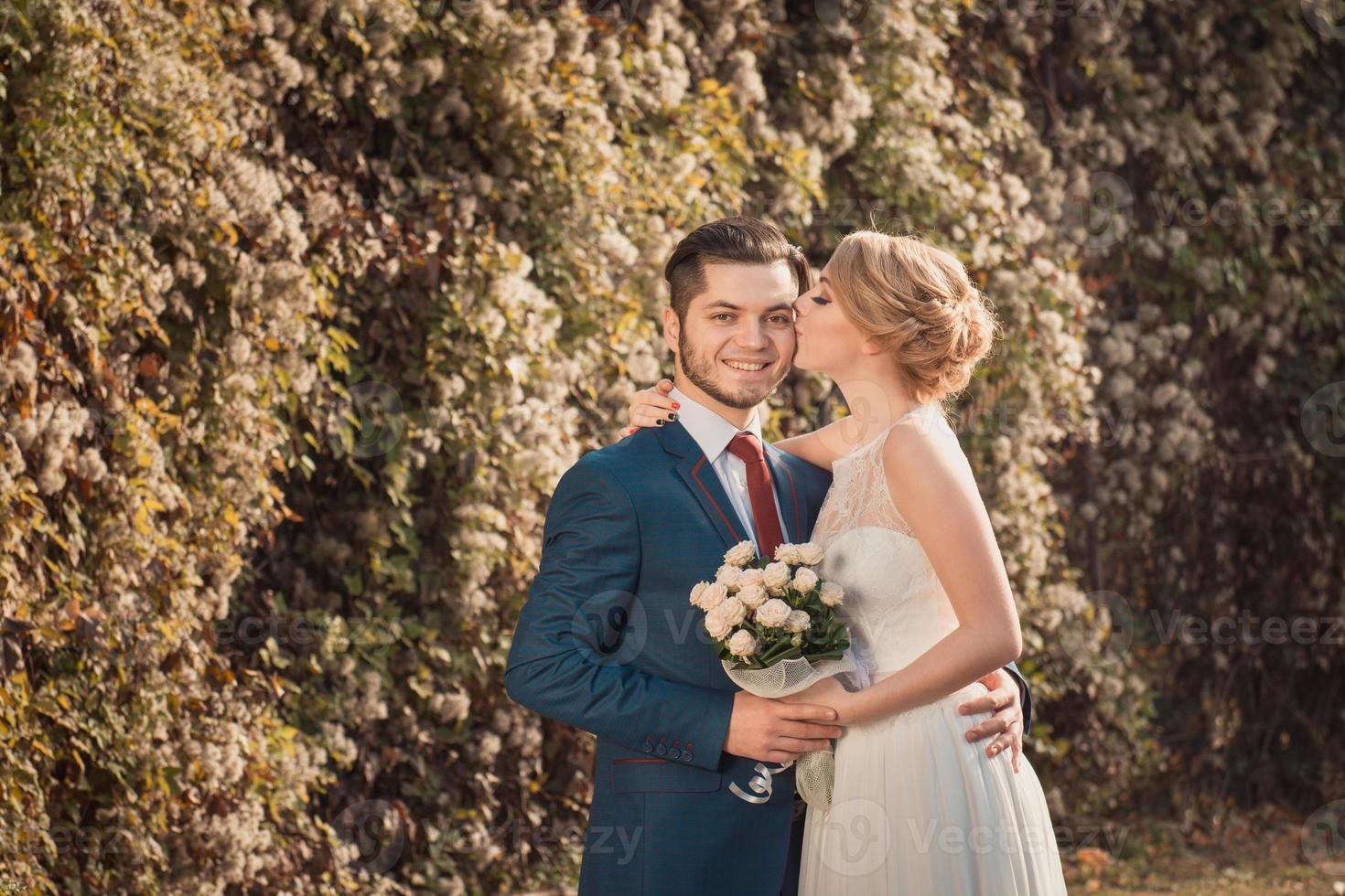 couple de mariage romantique photo