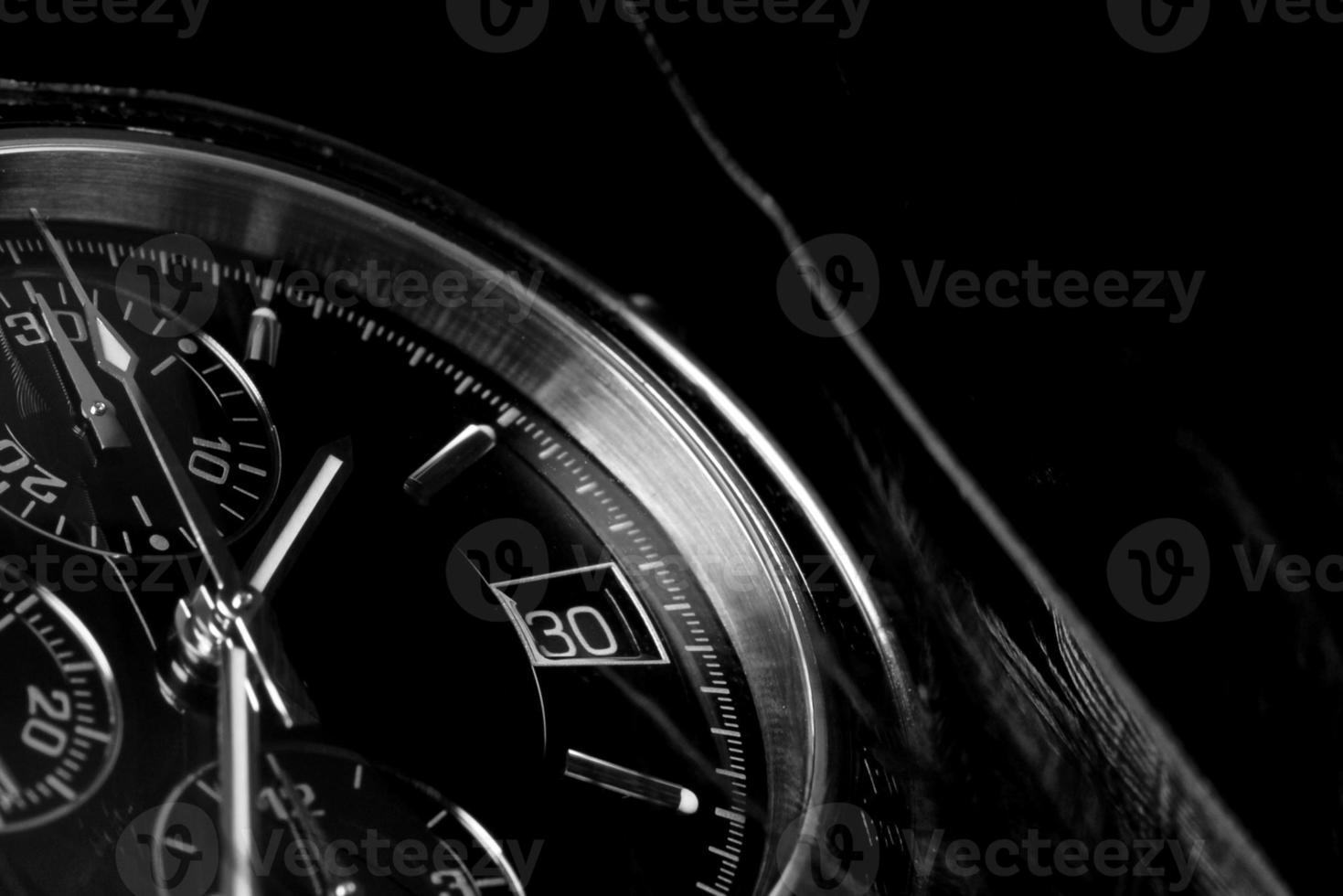 gros plan de l'horloge. photo