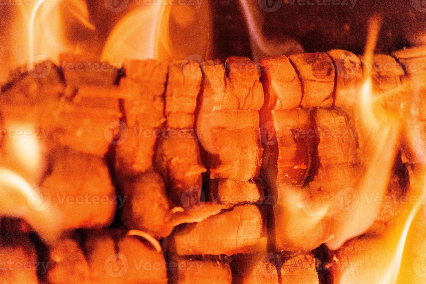 feu de bois se bouchent photo