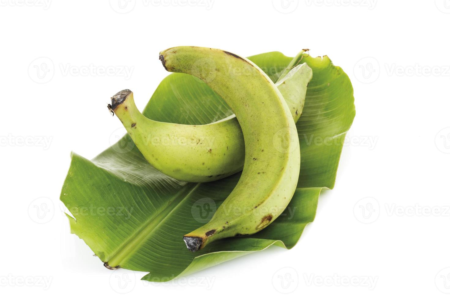 deux, plantains, gros plan photo
