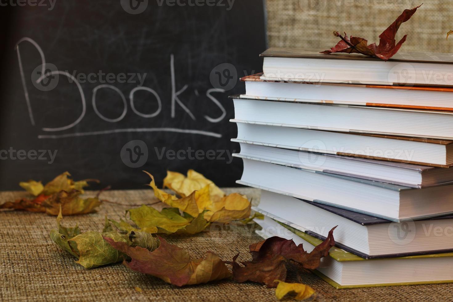 les manuels scolaires quittent l'année scolaire photo