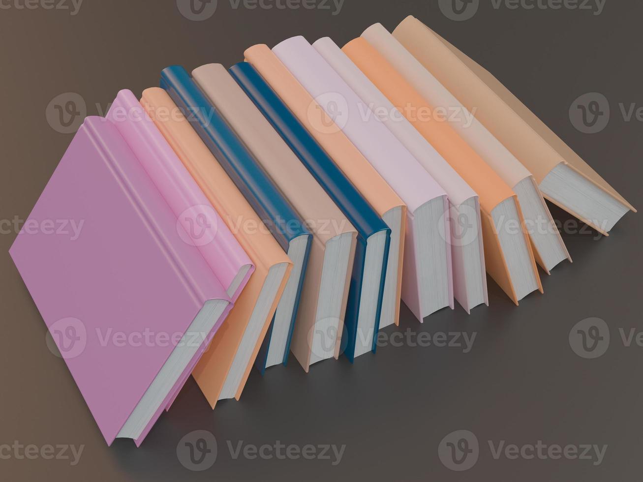 modèle de maquette de livre de couleur vide sur fond noir photo