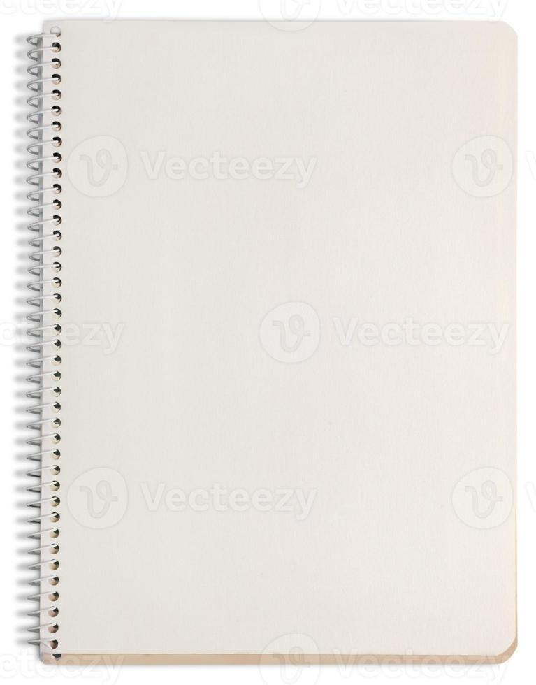 cahier de papier. texturé isolé sur fond blanc. collection photo