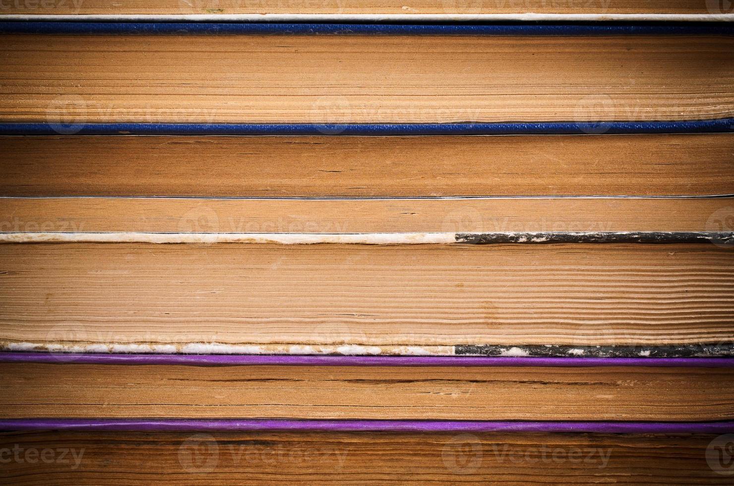 l'arrière-plan des pages de vieux livres photo