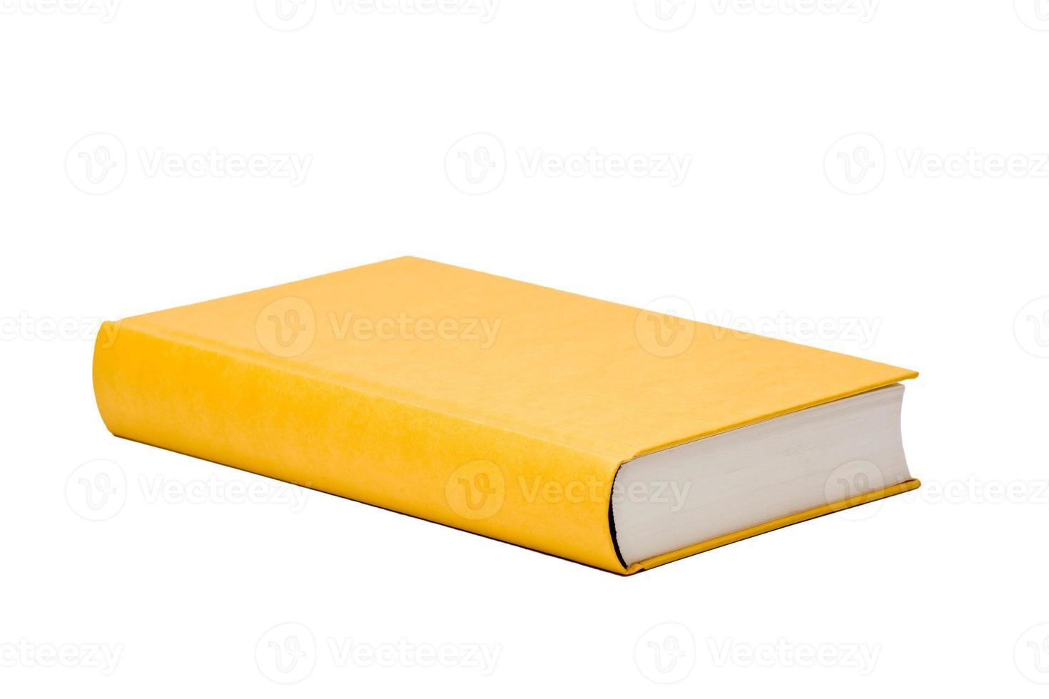 livre jaune avec couverture vierge photo