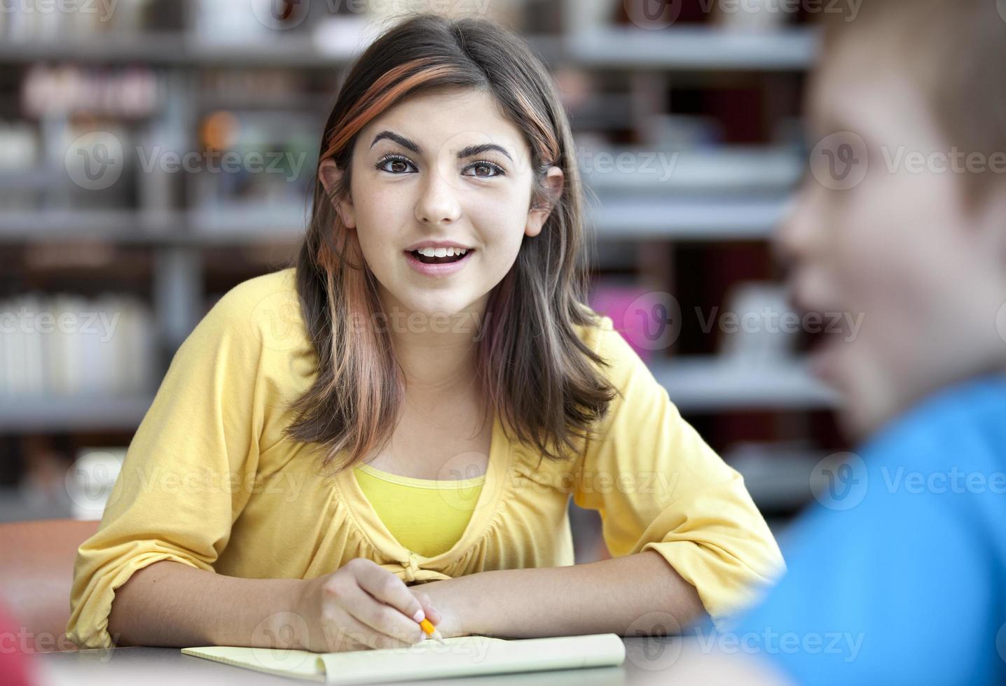 adolescente, étudier, à, garçon photo