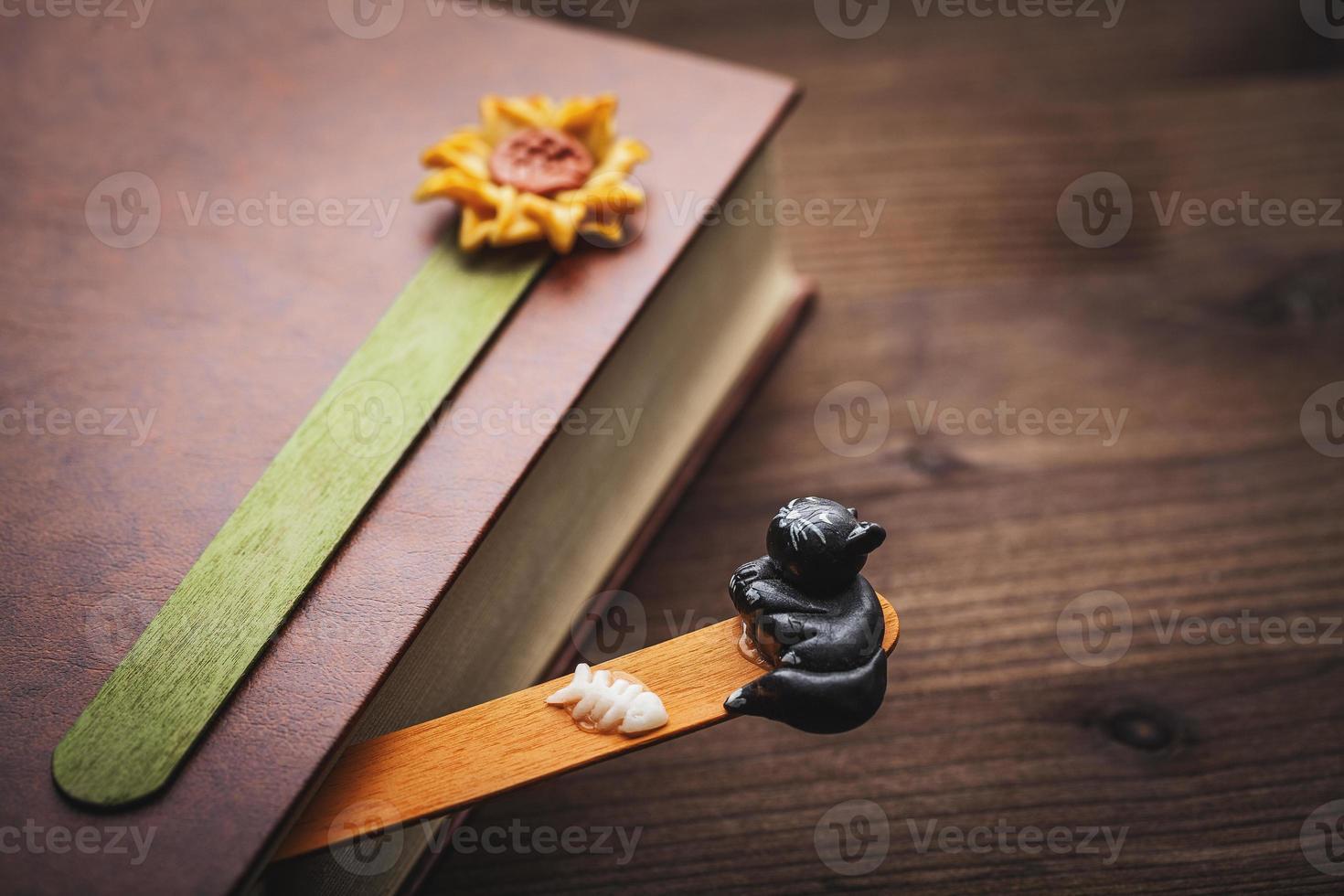 livre et signet photo