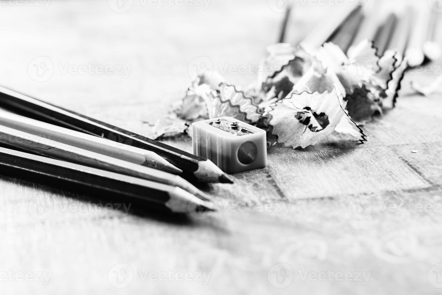 crayons de couleur en bois photo