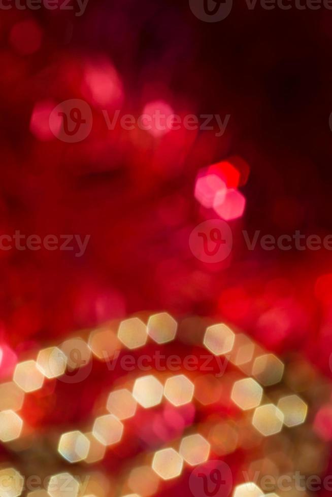 lumières de fond illuminées rouges et or photo
