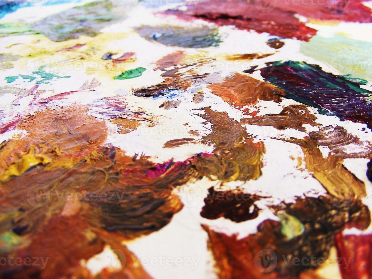 paleta de pintor photo