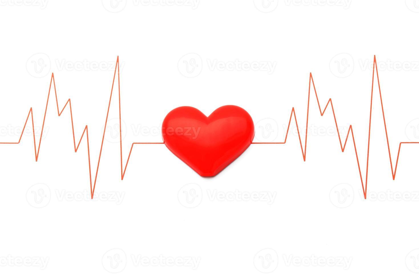 cœur et électrocardiogramme photo