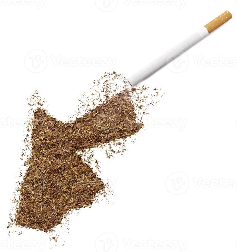 cigarette et tabac en forme de jordanie (série) photo
