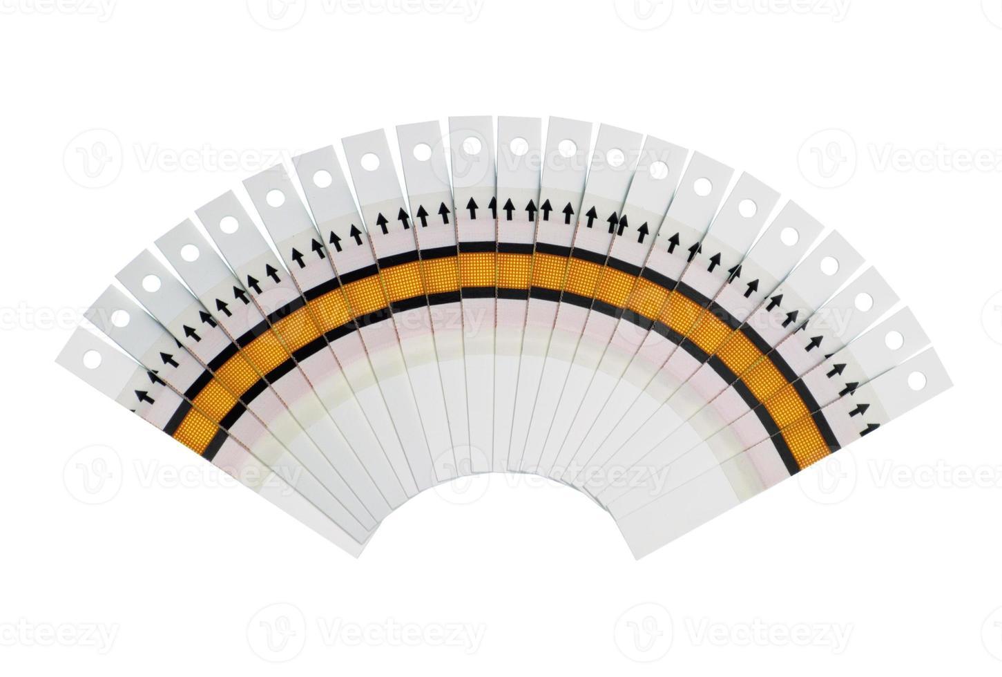 fantail des bandelettes de test photo