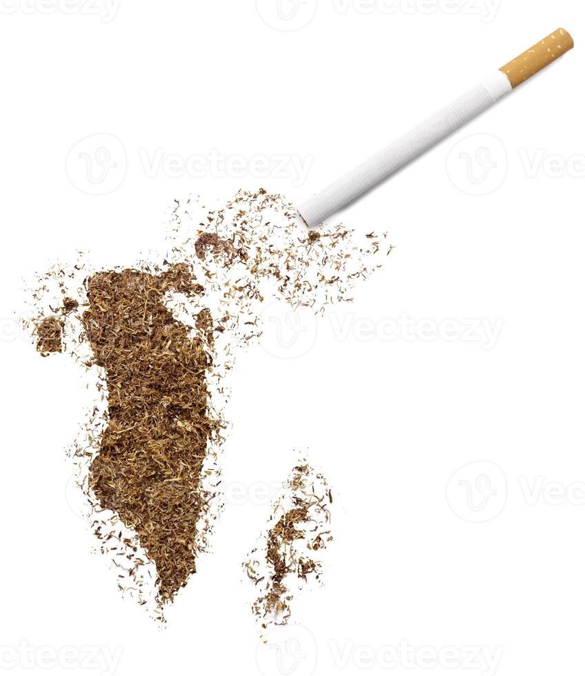 cigarette et tabac en forme de bahreïn (série) photo