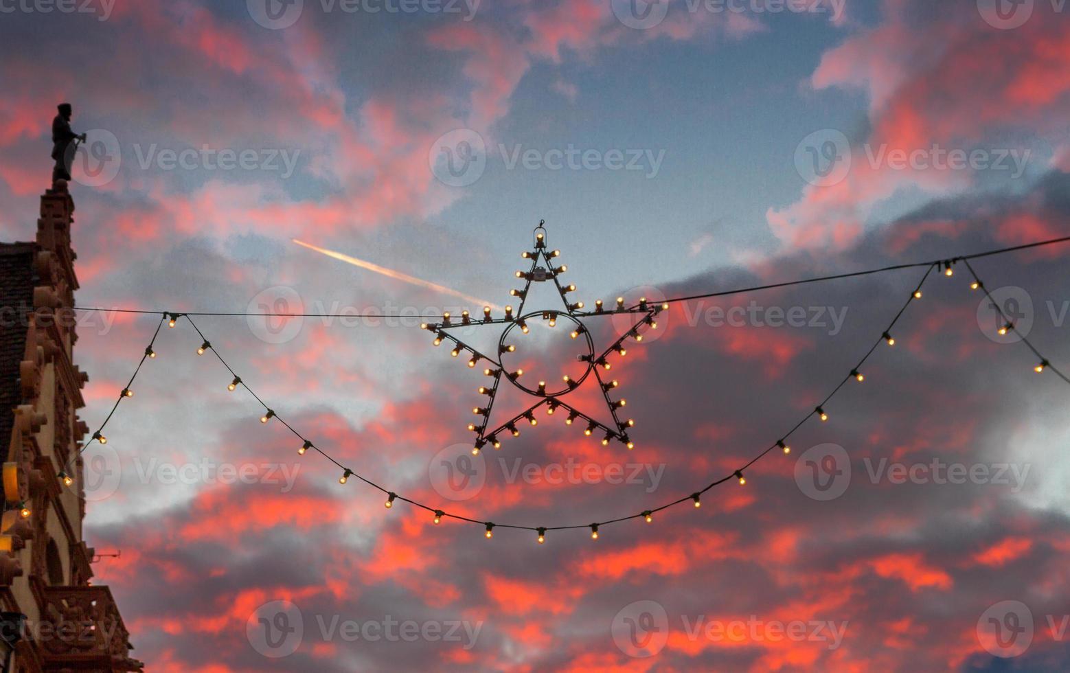 gros plan étoile de Noël photo