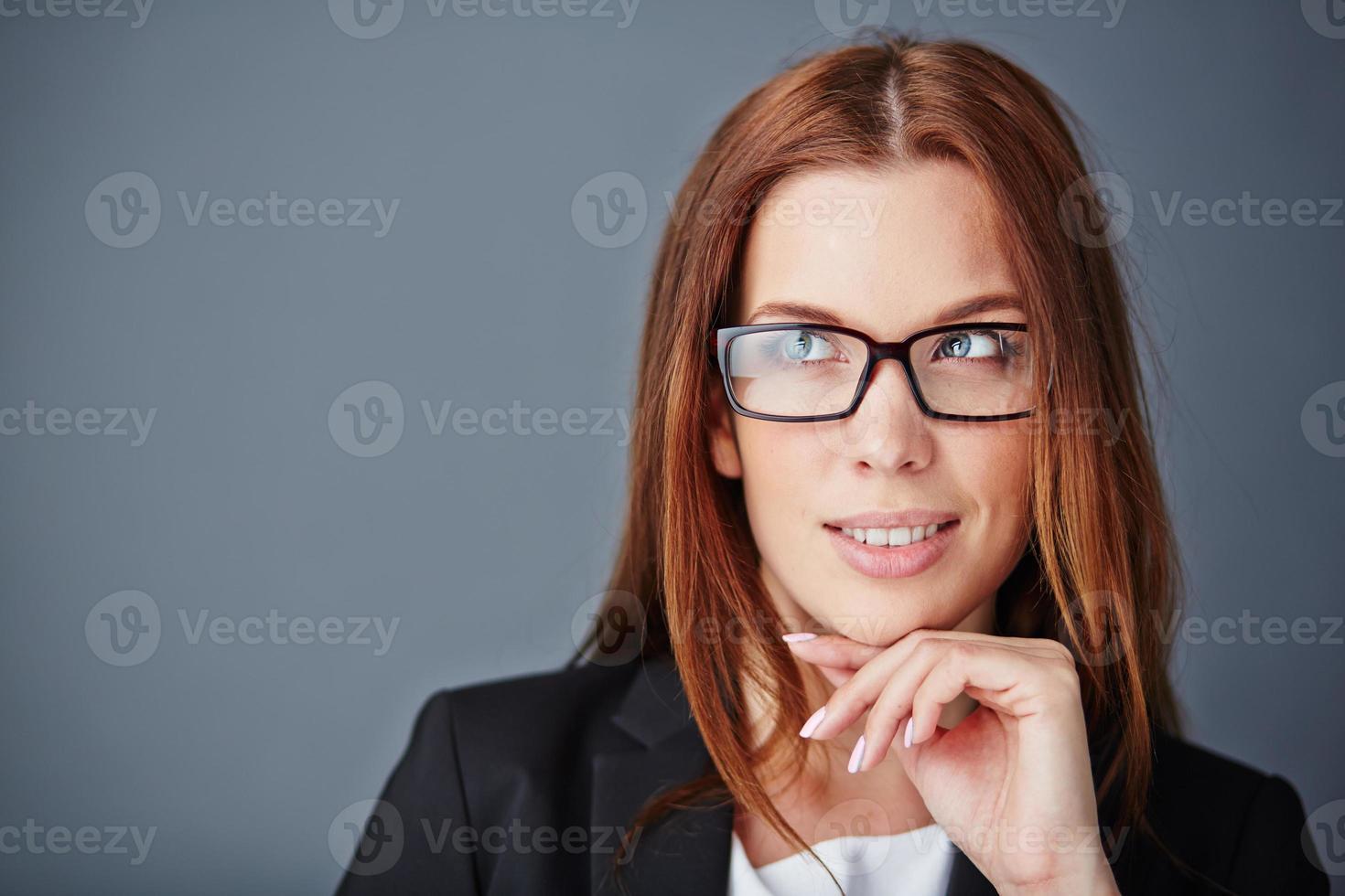 pensive lady photo
