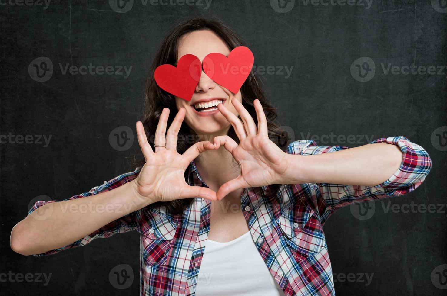 fille heureuse amoureuse photo