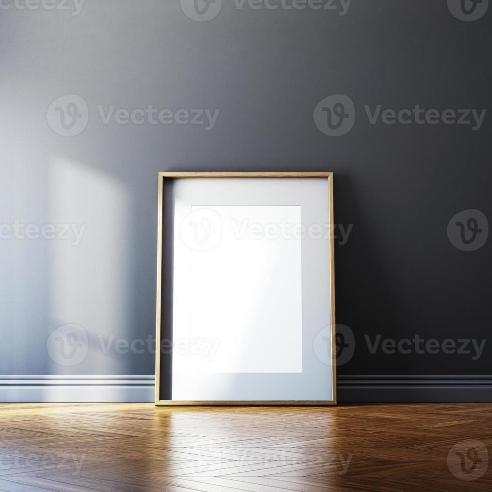cadre photo vide et lumière du soleil