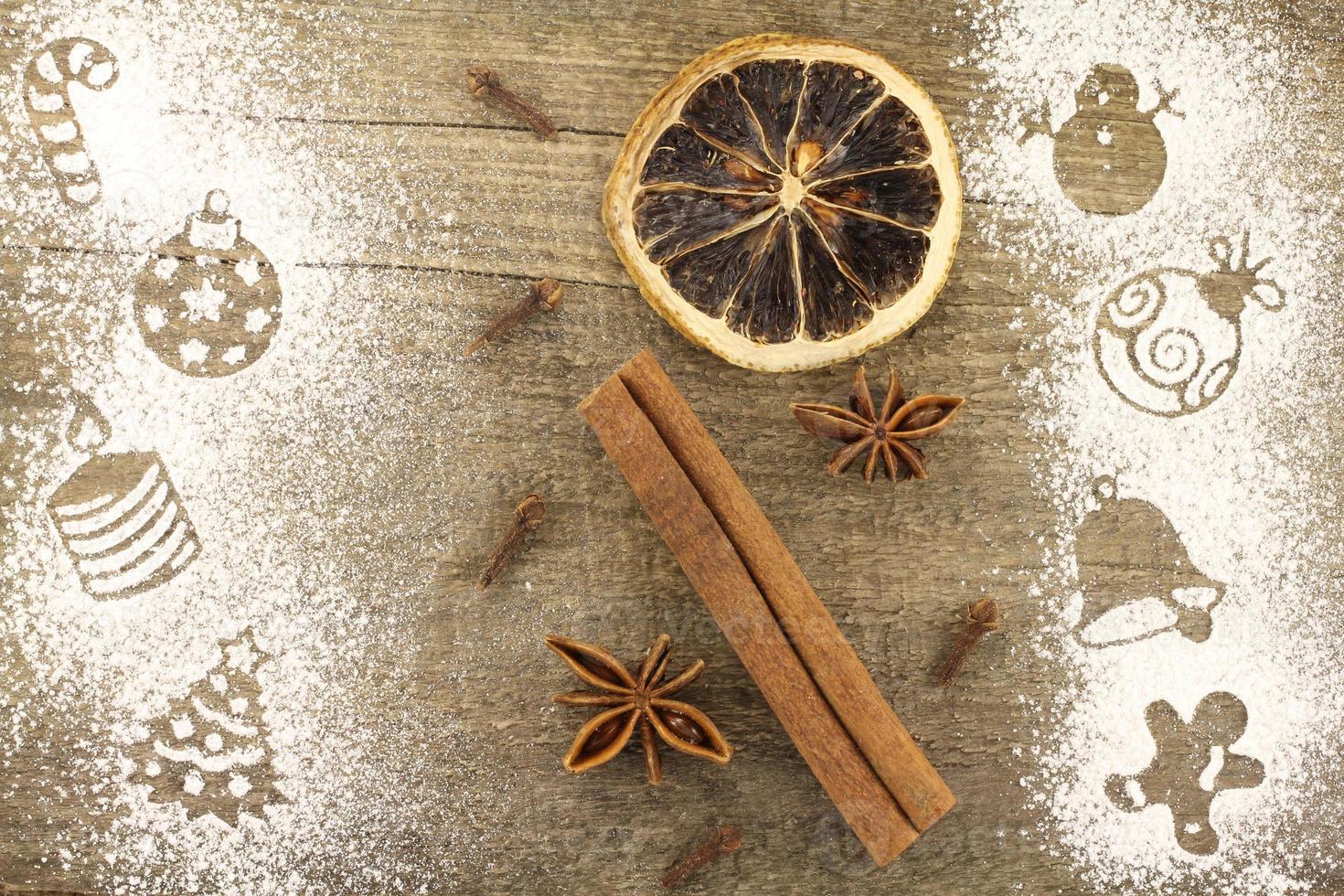 décorations de Noël au pochoir photo