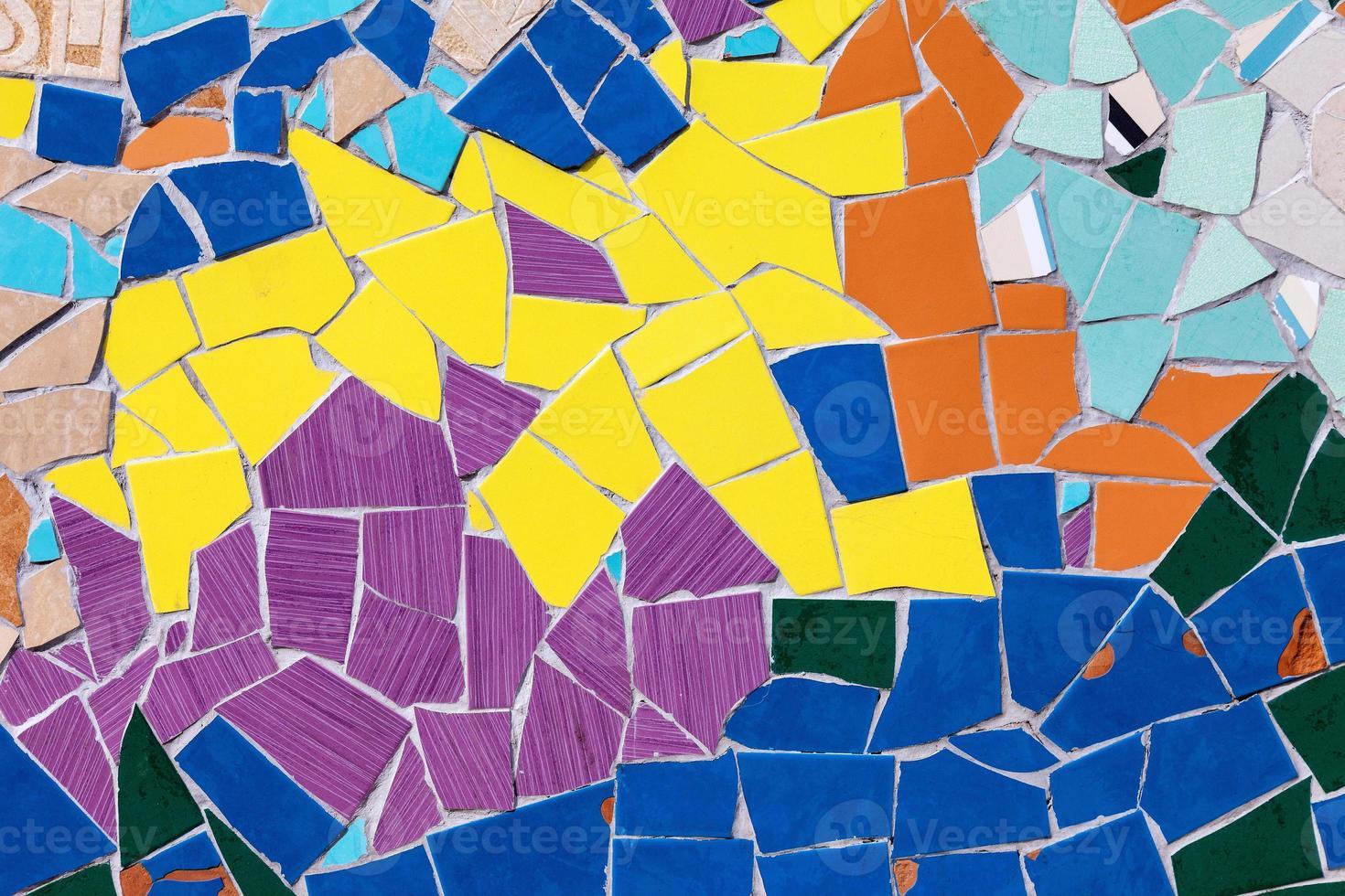 modèle de composition de mosaïque de carreaux de verre coloré en céramique photo