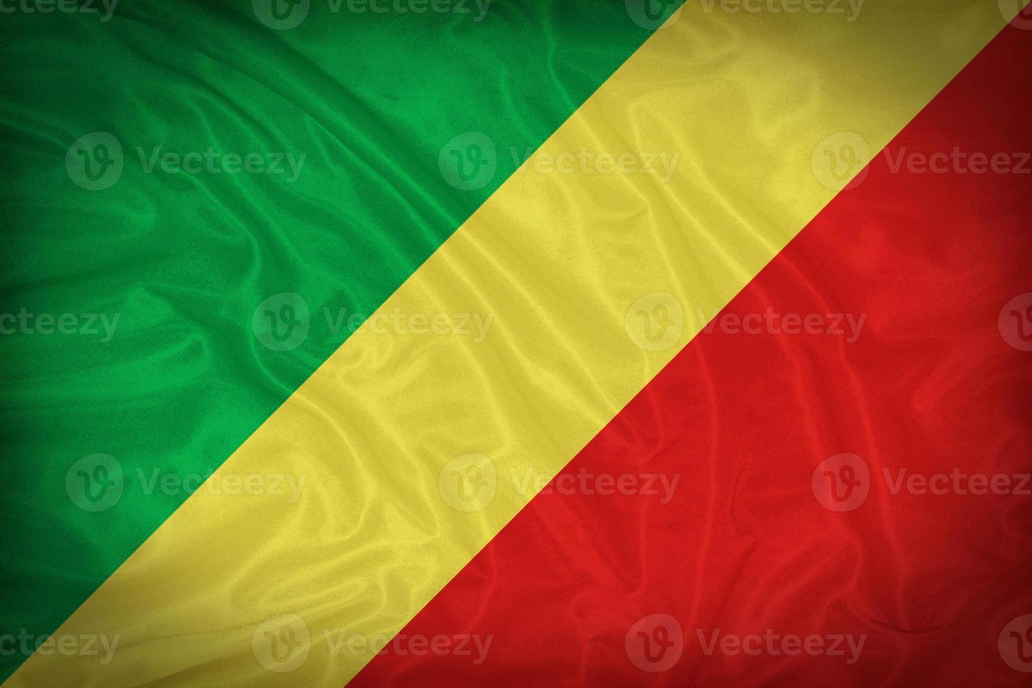 motif drapeau Congo sur la texture du tissu, style vintage photo