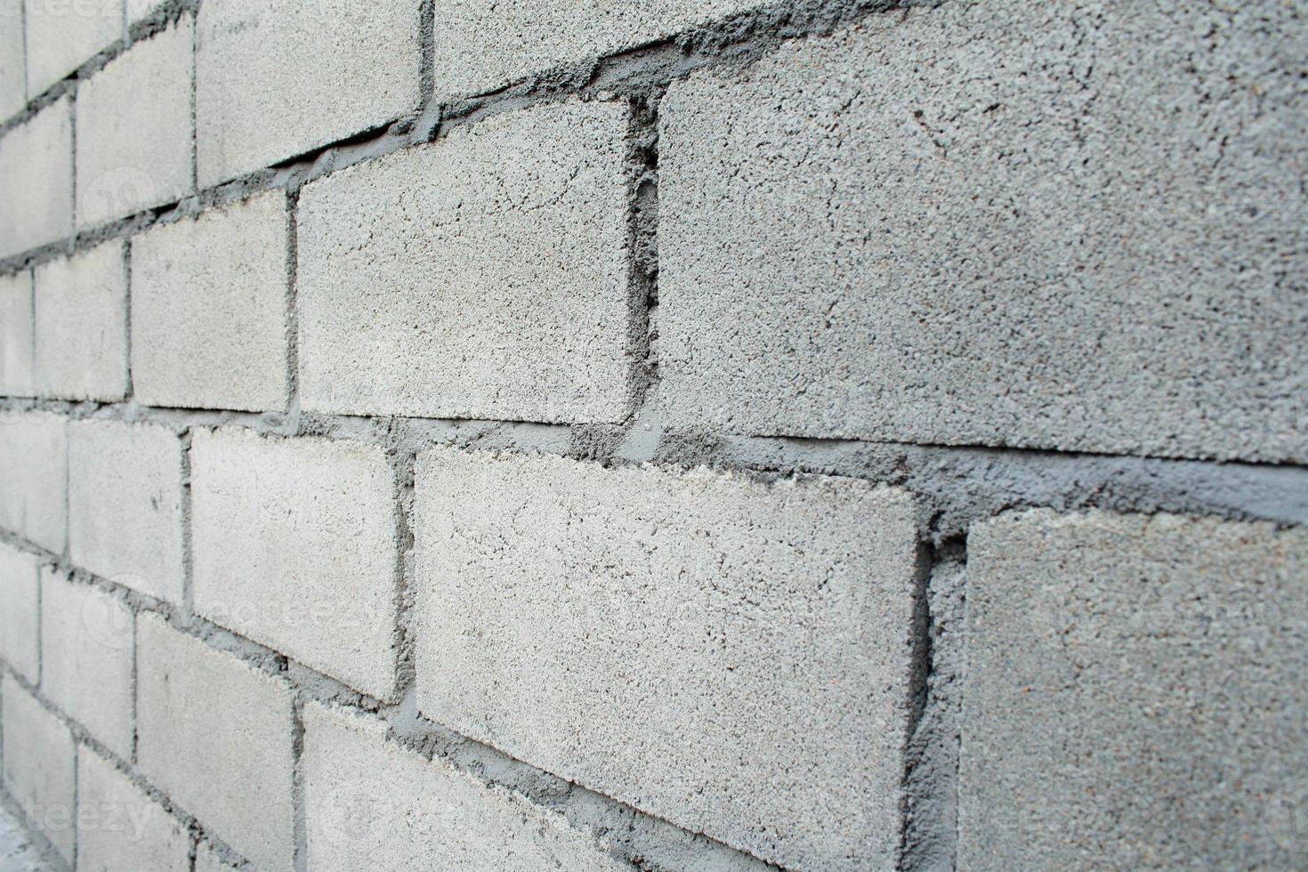 modèle de mur de briques blanches photo