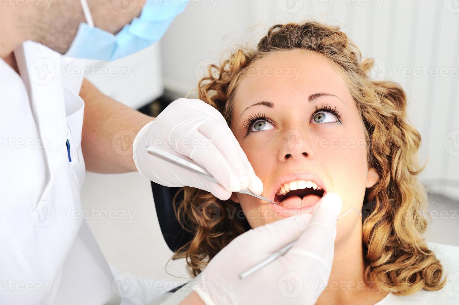 examen des dents du dentiste, série de photos connexes